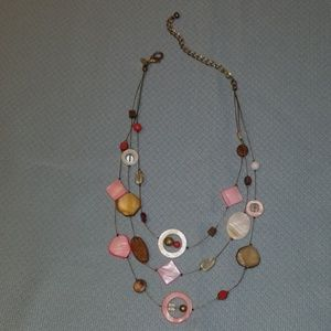Chico's Pink Beaded Necklace
